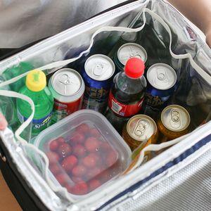 10L / 18L / 28L / 37L Zusammenklappbare isolierte Kš¹hltasche Lunchbox Einkaufstš¹te Tragbare Outdoor-Picknick-Tragetasche fš¹r Camping-Wanderungen