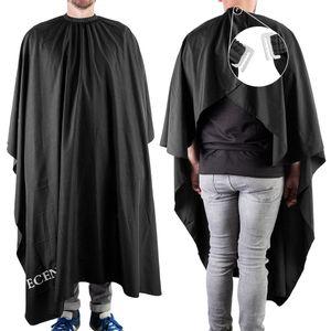 ECENCE Professioneller Friseurumhang mit Hakenverschluss Schwarz, 150x120cm, für Damen, Herren Kind