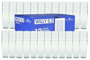 120er Set Bierglas Willibecher 0,2L geeicht
