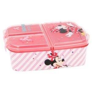 Brotdose Mouse   3 Fächer   Minnie Maus   Lunch to Go   Vesper Dose