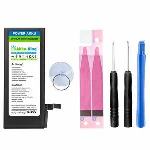 Power-Akku kompatibel mit iPhone 6 / 6G - Li-Polymer 2200mAh - mit Öffnungswerkzeug / Klebestreifen (390mAh mehr)