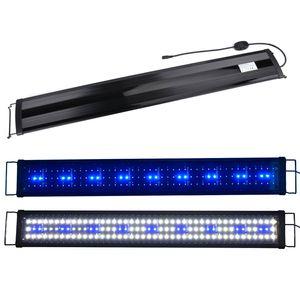 Boomersun 90-110 cm LED Aquarium Beleuchtung Lampe Aufsatzleuchte Licht Lampe Pflanzen Weiß/Blau/Weiß+Blau