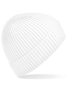 Engineered Knit Ribbed Beanie - Farbe: White - Größe: One Size