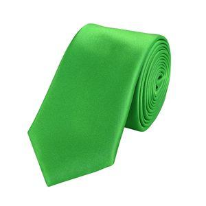 Schlips Krawatte Krawatten Binder 6cm grün apfelgrün grasgrün uni Fabio Farini