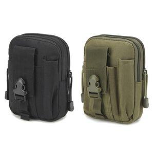 Outdoor Bewegung Taktische Gürteltasche Camping Militärische Tasche Wanderausrüstung Schwarz