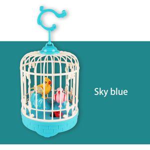 Birdcage Toy For Children Elektronisches interaktives sprechendes Spielzeug Haustiere Nettes Geschenk ZQI201112014BU