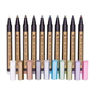 10 Farben Metallic Marker permanent wasserfeste Stifte Stift für Steine, Holz, Leinwand, Scrapbooking, Glas, Fotoalbum
