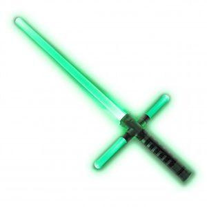 Kreuz-Lichtschwert mit Sound
