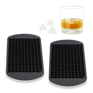 relaxdays 2x Eiswürfelform Silikon 1cm Eiswürfelbox Eiswürfelbehälter Silikonform Bereiter