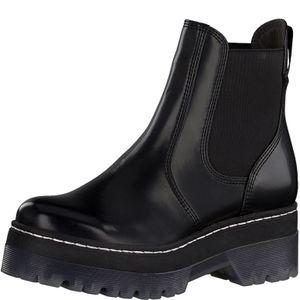 Tamaris Damen Stiefeletten Plateau Chelsea Boots 1-25958-25, Größe:40 EU, Farbe:Schwarz