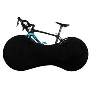Fahrradabdeckung, staubgeschützte Aufbewahrungstasche für Fahrräder, abwaschbares, kratzfestes, elastisches Fahrradreifen Paket für Mountainbike Rennrad  Schwarz