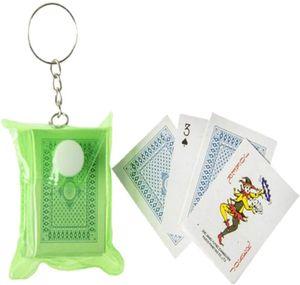 Mini-Kartenspiel in Hülle 54 Karten ca. 4x3cm Taschenkartenspiel Schlüsselanhänger