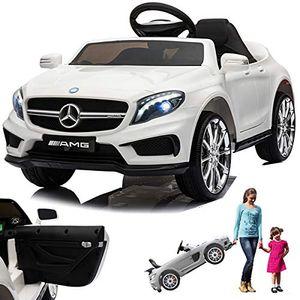 Mercedes GLA45 AMG GLA 45 12V Elektro Kinderauto elektrisch Kinder Elektroauto mit Fernbedienung und öffnenden Türen Weiss