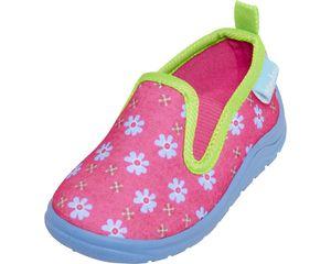 Playshoes Hausschuh Blumen pink Mädchen 201818-18, Größe:26/27, Farbe Playshoes:pink