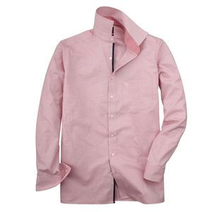XXL Olymp bügelfrei Micromuster Businesshemd rosé, Kragenweite:44
