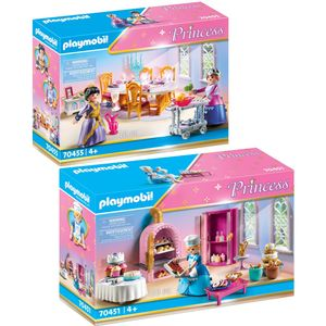 PLAYMOBIL 70451 70455 Princess 2er Set Schlosskond