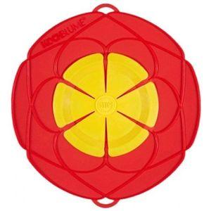 "Kochblume ""GROß"" Farbe rot/gelb Überkochschutz Silikon Kochen Dampfgaren"