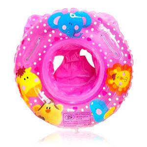 Schwimmring, Aufblasbarer zum Schwimmen für Kleinkinder, Verdickter Doppelballon-Schwimmring, Rosa