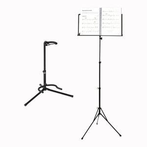 Voggenreiter Ständer Set, 2-tlg., Notenständer NS-100, Gitarrenständer GS-100, Notenpult, Gitarrenhalter