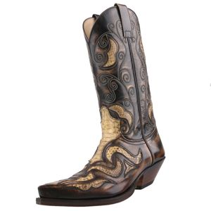 Sendra Python Cowboystiefel  7428 tierra canela antik, Schuhgröße:EUR 46