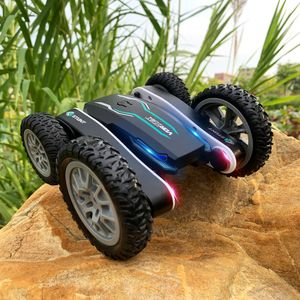 2.4G RC-Auto Drift Deformation 360 Grad Rollen drehbare Fahrzeugmodelle Spielzeug + Licht, Schwarz
