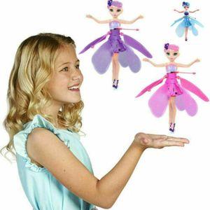 Mädchen Fliegendes Spielzeug USB Fliegende Kleine Fee Levitation Fernbedienung Induktionsflugzeug Spielzeug-Blau