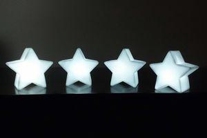 4er Set LED Sterne in Weiß Batteriebetrieben Tischlicht Weihnachtsdeko Nachtlicht Weihnachtsstern