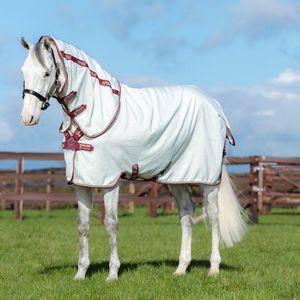 Horseware Amigo Aussie All Rounder Disc Front - White & Green check/Forest green, cream and Burgundy, Größe:155