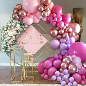 126PCS lila rosa Ballonbogen-Kit, Girlande Geburtstag Hochzeitsfeier Ballon Dekoration Girlandenballons
