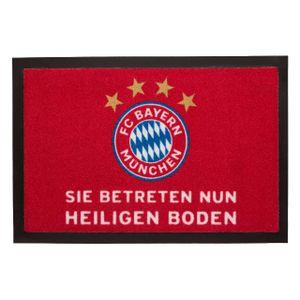 FC BAYERN MÜNCHEN Fußmatte Heiliger Boden rot -