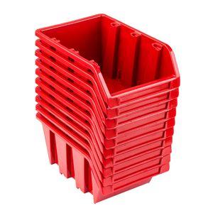 Set 10 x Stapelboxen NP6 rot Lagerboxen Sortierboxen