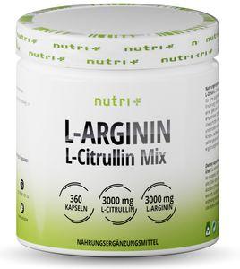 L-Arginin Citrullin 360 Kapseln