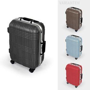 MasterGear ABS Hartschalen Handgepäck Koffer mit 4 Rollen, TSA Schloss, für zahlreiche Fluggesellschaften geeignet , Farbe:schwarz