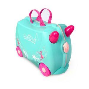 Trunki Flora die Fee, Koffer, Pink, Türkis, Kunststoff, 4 Rad/Räder, 18 l, 310 mm