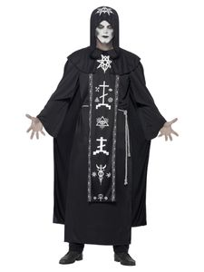 Herren Kostüm dunkler Voodoo Priester Hexer Halloween