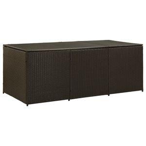 vidaXL Gartenbox Poly Rattan 180x90x75 cm Braun