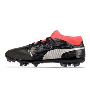 Puma One 18.2 AG Fußballschuhe schwarz/silber/rot 104534-01, Schuhgröße:46.5 EU