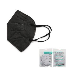 10x FFP2-FFP2 Mundschutzmaske / Mund-Nasenschutz Masken Atemschutzmaske,schwarz