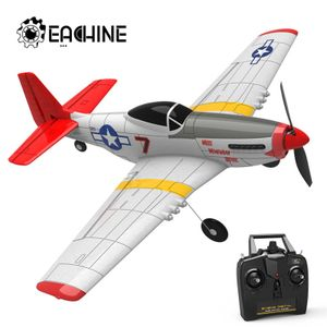 3 Batterie Eachine Mini Gyro RC Airplane Trainer Fixed Mustang P-51D EPP 400mm 2.4G