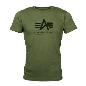 ALPHA Industries Basic T-Shirt olive, Größe:L