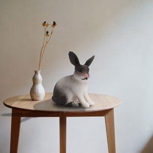 Kaninchenfigur Farm Pet Animal Set Modell Figur Dekoration Sammlung LOG210125755