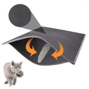 40 * 50 cm Katzenklo Matte, Katzenmatte, Waben Doppelschicht Design,Wasserdichtes Urinbeständiges Material