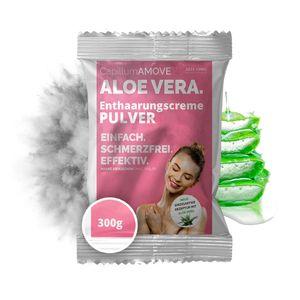 300g Capillum AMOVE Aloe Vera Enthaarungscreme als Pulver - ohne synth. Zusatzstoffe mit Pflanzenteilen für sanfte Anwendung auf der Haut ohne Schmerzen