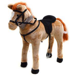 """Pink Papaya Stehpferd """"Marie"""" 75 cm Pony bis 100 kg belastbar mit Sound und Steigbügeln"""