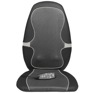 Hochwertigen- Shiatsu Massage-Sitzauflage MC 815 Schwarz und Grau 88916
