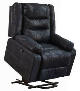 Asukale Elektrisch Relaxsessel Aufstehsessel Fernsehsessel Massagesessel mit Aufstehhilfe Heizung Liegefunktion Schwarz