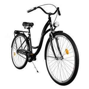 Milord Komfort Fahrrad Damenfahrrad Retro, 28 Zoll, Schwarz, 1 Gang