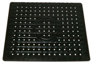 SPÜLBECKEN EINLAGE  26x31cm Spülbeckenmatte Spülbeckeneinlage Matte 44(Schwarz, eckig)