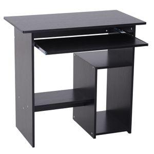 HOMCOM Computertisch, Schreibtisch, Bürotisch, Gamingtisch, Kinderschreibtisch PC-Tisch, Schwarz, 80 x 45 x 73,5 cm