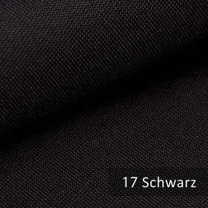 novely® HANAU UNI Polsterstoff   Möbelstoff   Schwarz   M-HAN-17